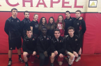Fox Chapel senior wrestlers and managers include, front, from left, Andrew Kopco, Charles Irakoze, Tristin Houser and Austin Pisano. In back are Derrin Dietz, Mike Duray, Kira Witt, Olivia Molina, Ashley Zito, Maura Whelan, Dylan Peterle and Brendan Whelan.